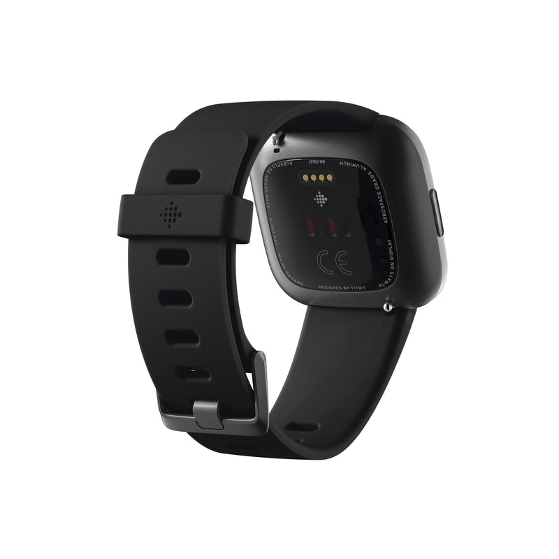 Fitbit Versa 2 Health & Fitness Smartwatch with Heart Rate, Music, Alexa Built-in, Sleep & Swim Tracking, Black/Carbon, One Size (S & L Bands Included) - Epivend