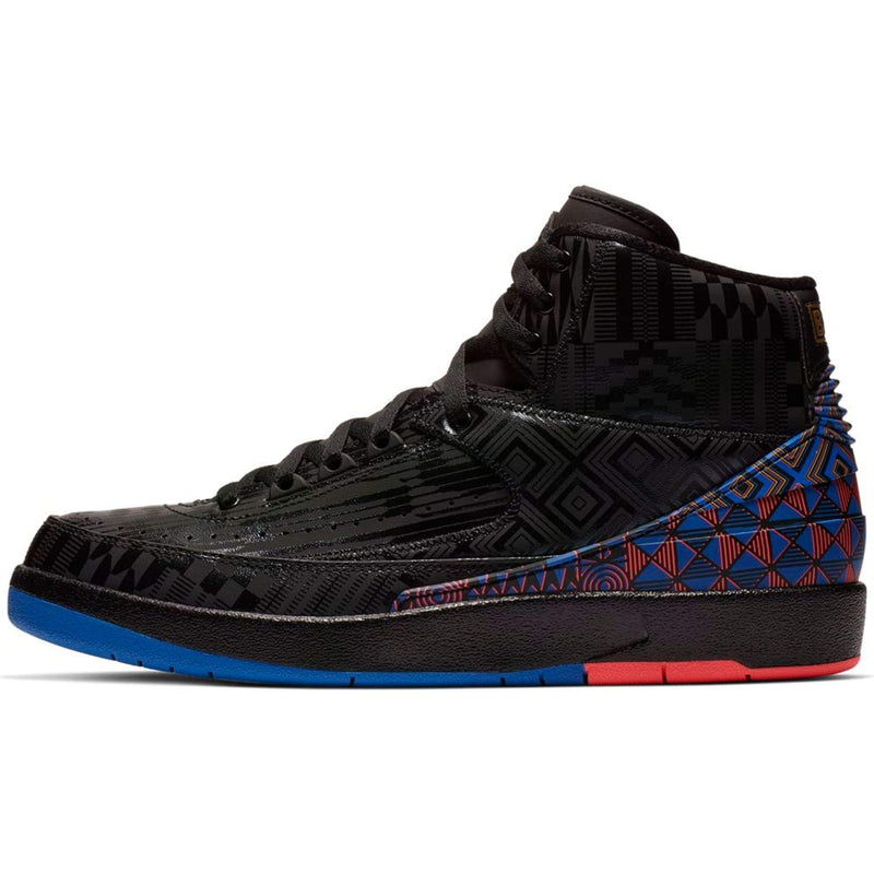 Nike Air Jordan Retro 2 BHM Black/Metallic Gold (9 D(M) US) - Epivend