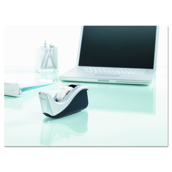 Scotch Desktop Tape Dispenser Silvertech, Two-Tone (C60-St), Black/Silver, 1 Pack - Epivend