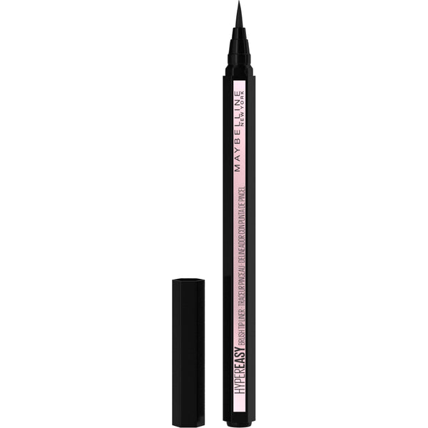 Maybelline New York Hyper Easy Liquid Pen No-Skip Eyeliner, Satin Finish, Waterproof Formula, Eye Liner Makeup, Pitch Black, 0.018 Fl. Oz - Epivend