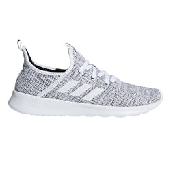 adidas Performance Women's Cloudfoam Pure Running Shoe, White/White/Black, 9 M US - Epivend