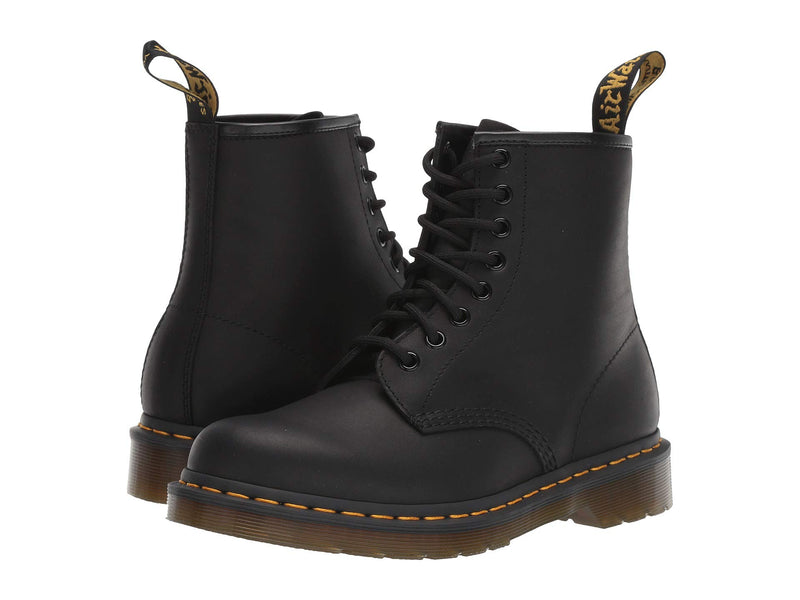 Dr. Martens 1460 8 Eye Boot, Black Greasy ,7 UK/Men's 8, Women's 9 US - Epivend