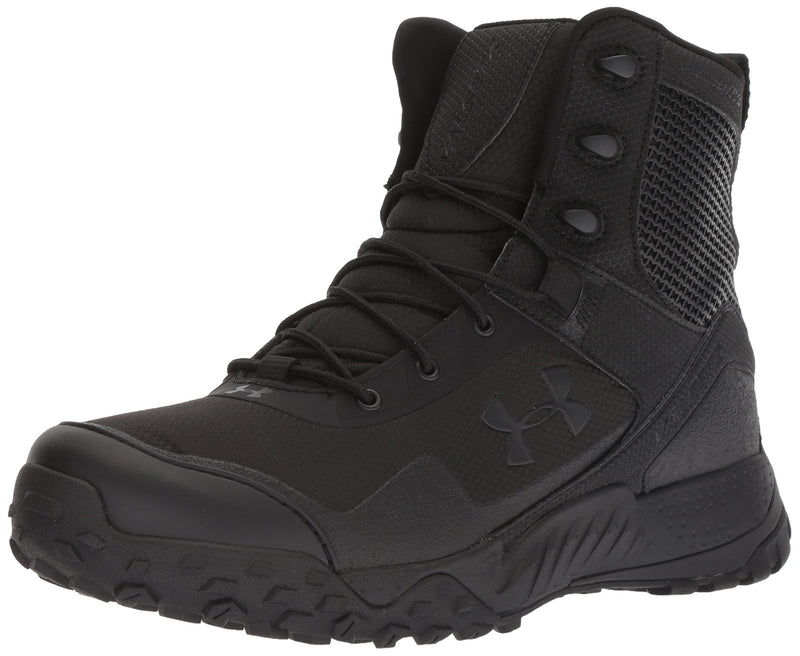 Under Armour Men's Valsetz RTS 1.5 Side Zip Military and Tactical Boot, Black (001)/Black, 12 - Epivend