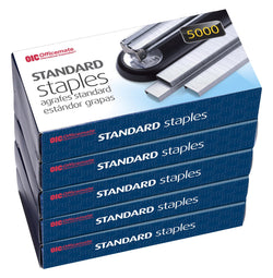 Officemate Standard Staples, 5 Boxes General Purpose Staple (91925) - Epivend