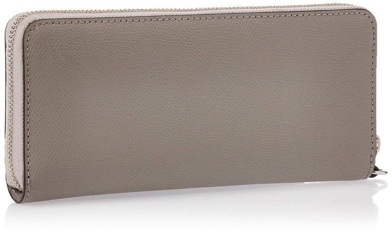 Michael Kors Jet Set Travel Continental Zip Around Leather Wallet Wristlet (Pearl Grey) - Epivend