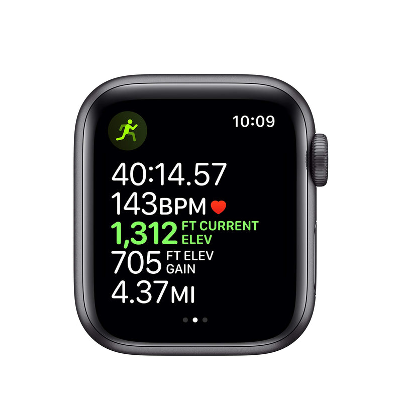 Apple Watch Series 5 (GPS + Cellular, 40mm) - Space Black Stainless Steel Case with Black Sport Band - Epivend