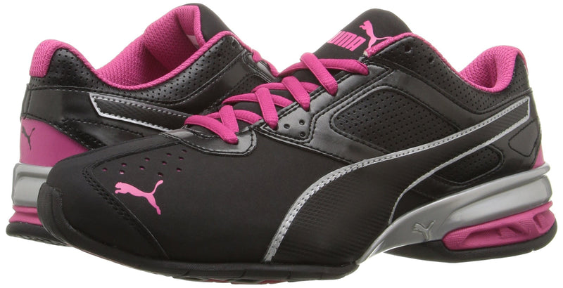 PUMA Women's Tazon 6 WN's fm Cross-Trainer Shoe Black Silver/Beetroot Purple, 9 M US - Epivend