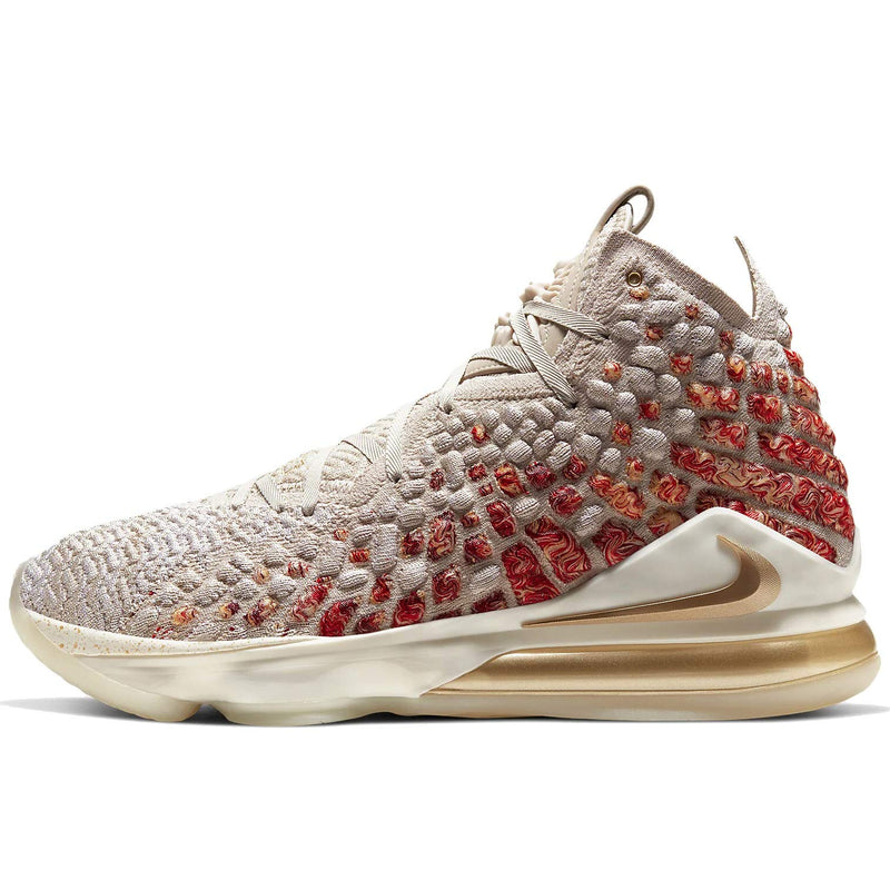 Nike Lebron 17 Basketball Shoes (M7/W8.5, Desert Sand/Metallic Gold) - Epivend