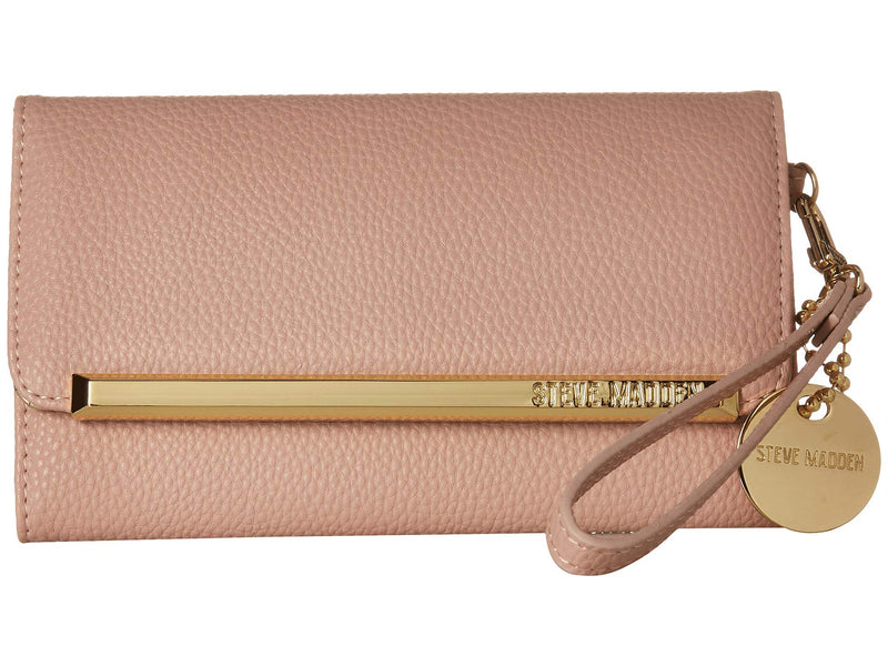 Steve Madden Trifold Wallet Blush One Size - Epivend