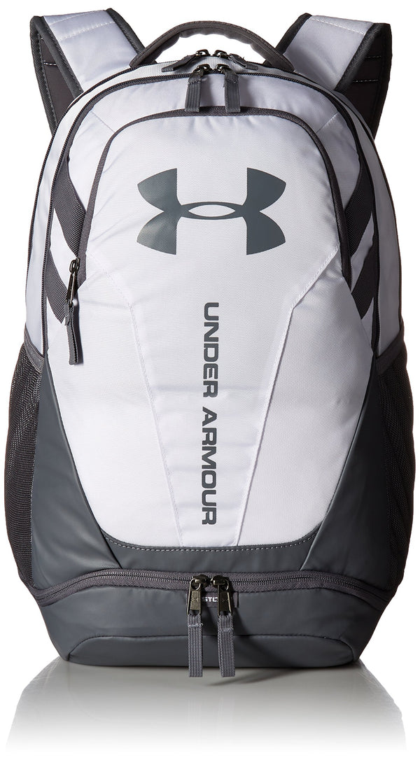 Under Armour Hustle 3.0 Backpack, White (100)/Graphite, One Size Fits All - Epivend