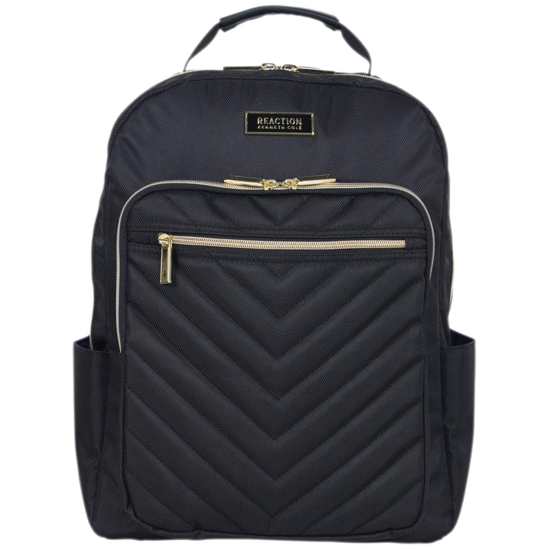 Kenneth Cole Reaction Women's Chelsea Chevron Quilted 15-Inch Laptop & Tablet Fashion Travel Backpack, Black, One Size - Epivend
