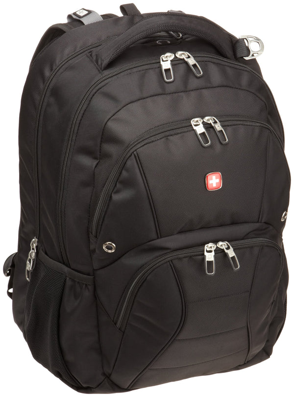 Swiss Gear SA1908 Black TSA Friendly ScanSmart Laptop Backpack  - Fits Most 17 Inch Laptops and Tablets - Epivend