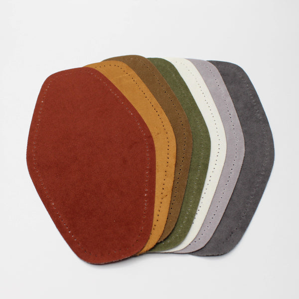 1 Pair Suede Elbow Patches - Iron-on - 190mm x 100mm