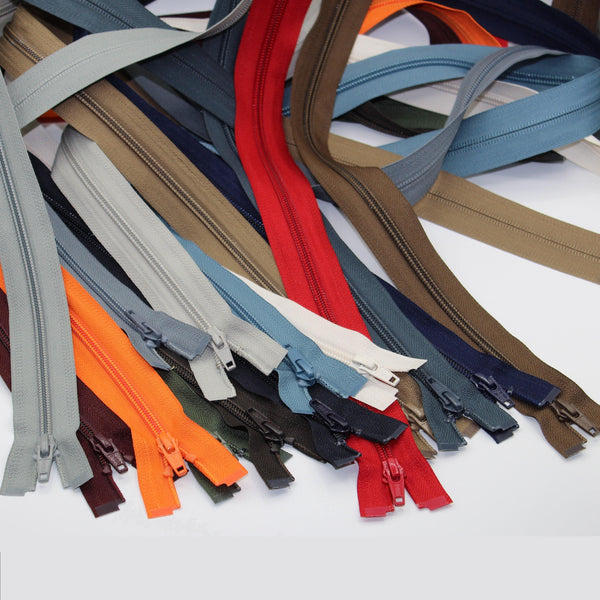 YKK - 80cm Nylon Zipper for Jackets - One Way Open end