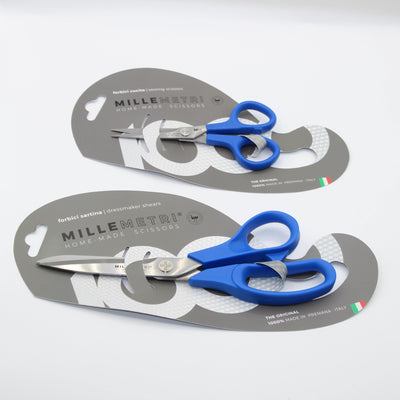 Millemetri ANTIBACTERIOLOGICAL Scissors : Dressmaker Scissors 21cm + Embroidery Scissors 12cm ** Made in Italy **
