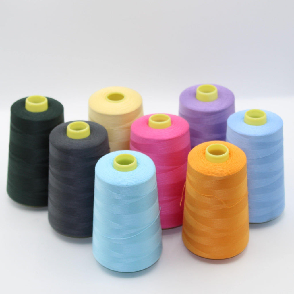 8x5000 yards Overlock Yarns S40/20 - Mix Colours (8 cones)