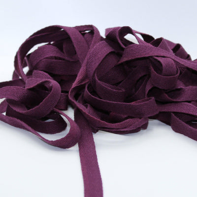 Prune COTTON HERRINGBONE 15mm **10 Meters**