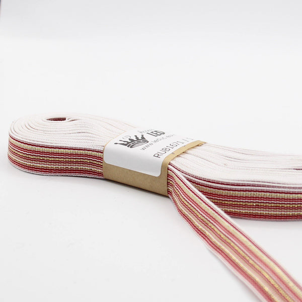 15mm White / Red / Gold Fine Stripes Tape **10 Meters**