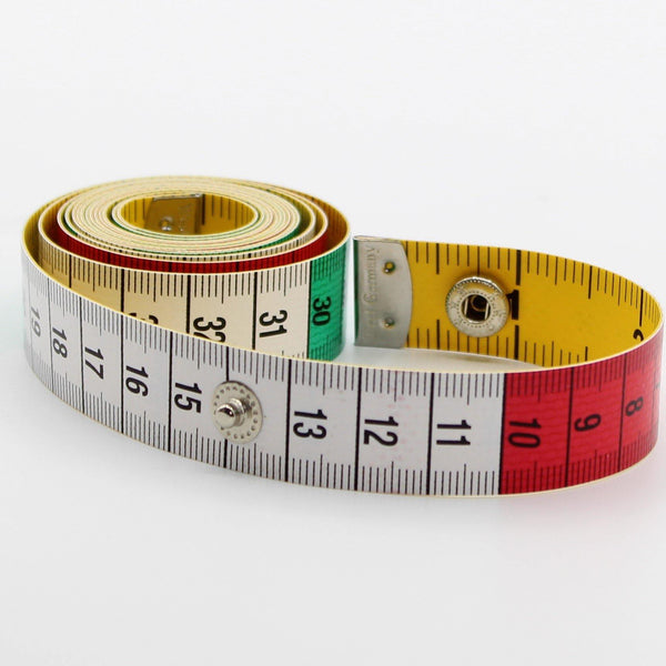 150cm High Quality Measure Tape with Snap Button CM / Inches