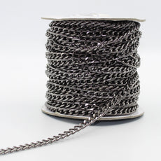 Nickel Free Aluminium Chains (with 5x8mm Rings) 5 meters