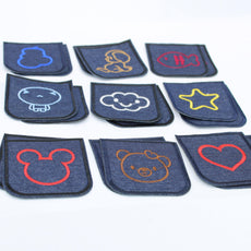 3 Pairs Denim Children Elbow/Knee Patches - Iron-on - 100mm x 75mm