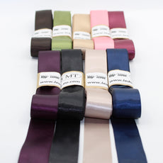 9*5 METERS (total 45 meters) Satin Tapes 25mm - Mix Colours Bundle