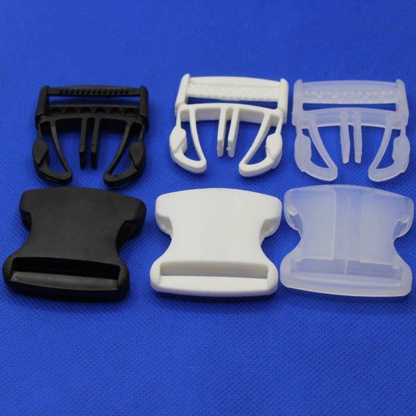 5 Clip Buckles 30 or 40mm Black White or Transparent