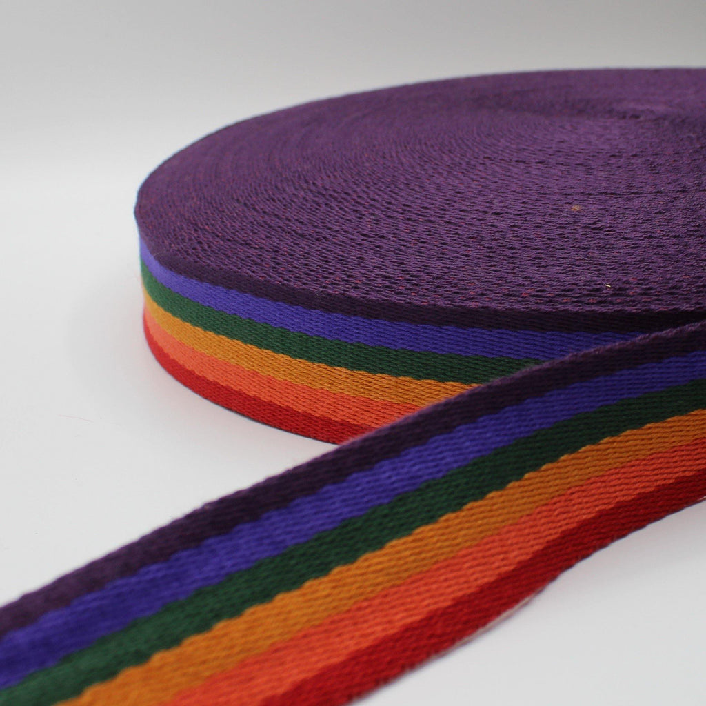 5 meters Multi - Striped Webbing 40mm