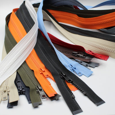 YKK - 80cm Vislon (Bloktand) Zipper for Jackets - One Way Open end