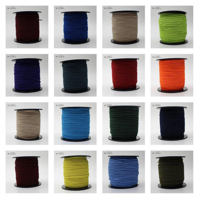 100 METRES - 3mm KNITTED Coloured Elastic
