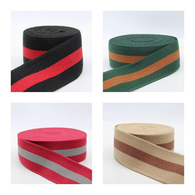 5 meters Cotton Striped Webbing 50mm