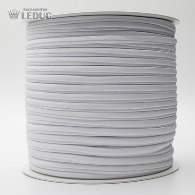 100 METRES - 5mm  TUBULAR LYCRA ELASTIC SPAGHETTI WHITE or BLACK