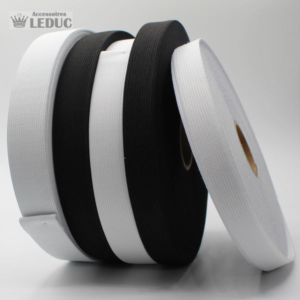 25m Knitted Elastic Black or White