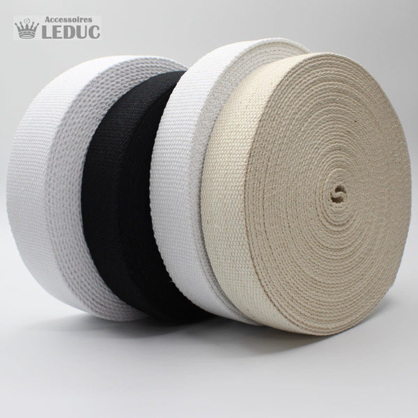 Cotton Webbing 30 or 40mm HEAVY DUTY - 10MT ROLLS