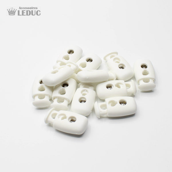 20 White Big Cord Stoppers