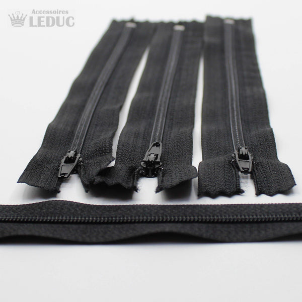 BLACK OR WHITE Nylon Zippers