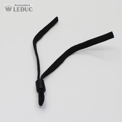 4 Adjustable Comfortable Elastics for masks 5mm (2 x Black + 2 x White)