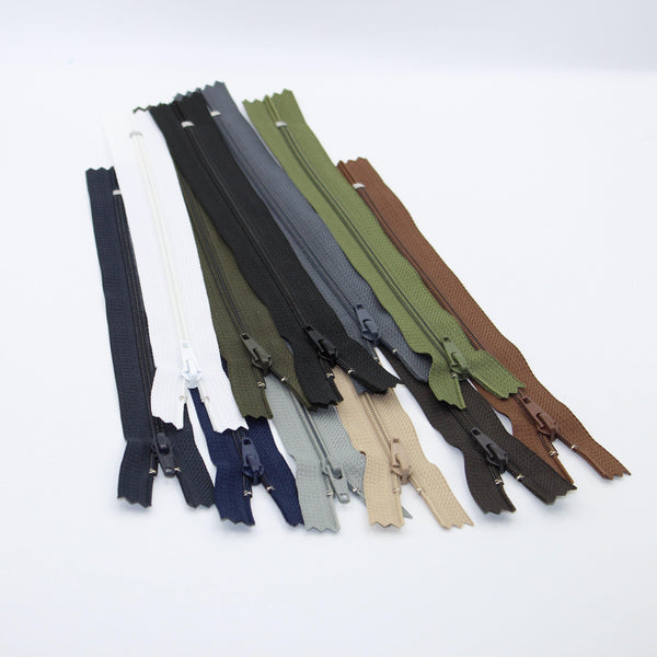 YKK - 20cm Nylon Zipper Size 4.5 for Trousers **Extra Strong**