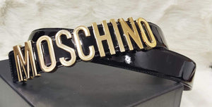 Moschino Womens Leather Belt