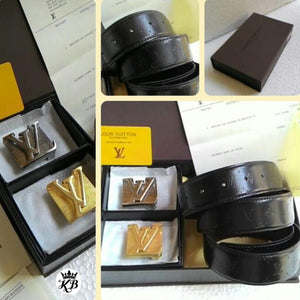 Louis Vuitton Leather Mens Belt