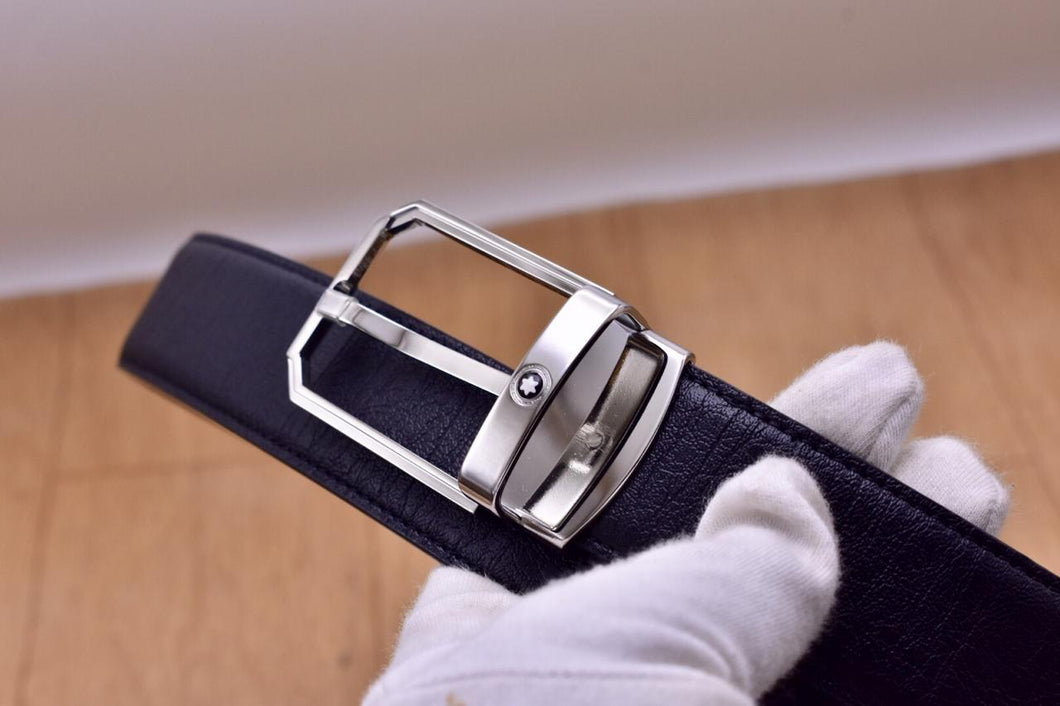 Montblanc Leather Mens Belt