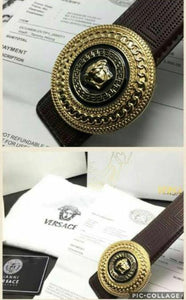Versace Leather Mens Belt