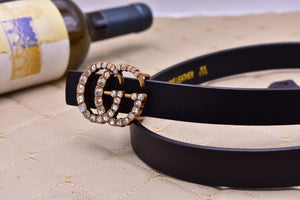 Gucci Womens Leather Belt