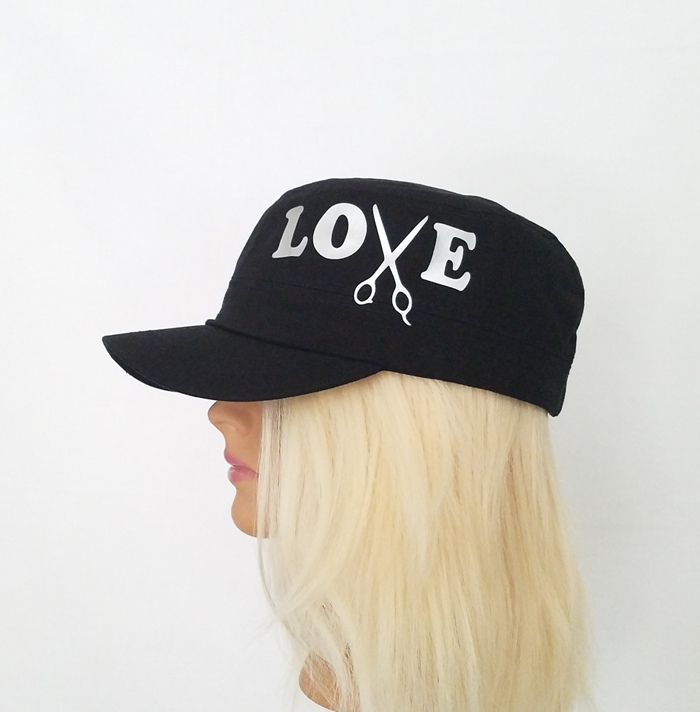 LOVE WITH SCISSOR HAT