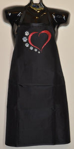 HEART WITH PAWS APRON