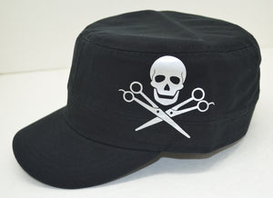 SKULL WITH SCISSOR HAT (SIDE)