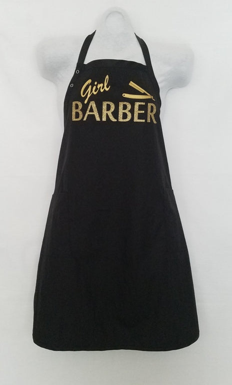 GIRL BARBER APRON