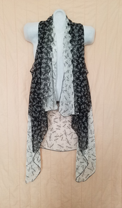 Two tone scissor printed Shawl