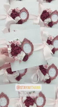 Load and play video in Gallery viewer, Burgundy, Dusty Rose, Rose Gold Wedding Invitation
