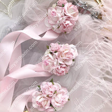 Load image into Gallery viewer, Pink Wedding Wrist Corsage